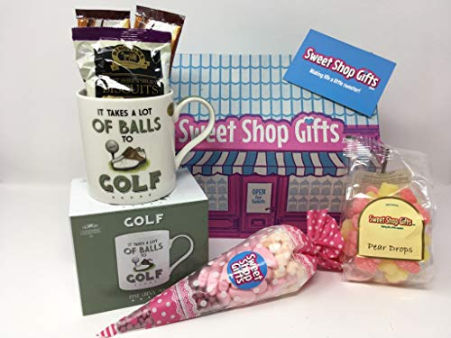 The Golf Lover's Mug and Pink Sweets Hamper