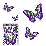 Schmetterling Grün D1 Kleintier Pack Auto Aufkleber - ST00025GR_SML - JAS Aufkleber
