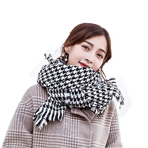 Lnyy Schal Herbst/Winter Cashmere Wolle Schal tausend Vogel Gitter Stripe Check Schal Größe (cm): 200 * 70 Check Cashmere