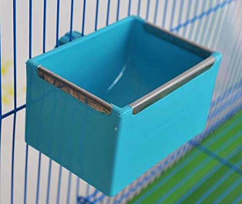 Vogel Essen Gericht Wasser-Futterschüssel für Papagei Wellensittich Nymphensittich Nymphensittich Conure Lovebirds Finch Tauben Geflügel Chinchilla Kaninchen Käfig