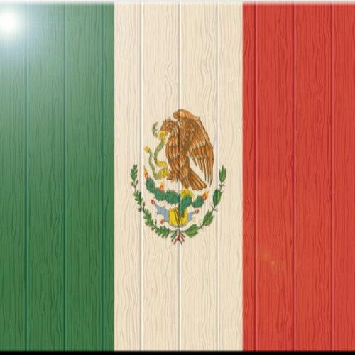 Rikki Knight rk-12intilec-874930,5x 30,5cm Mexiko Flagge auf Distressed Holz Design Keramik Art Tile (Mexiko Peso)