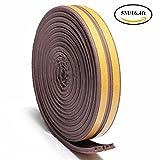 Finestra della porta Anti-collisione autoadesiva gomma schiuma sigillo striscia insonorizzazione bobina impermeabile guarnizione (E-Type Marrone)