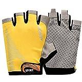 guantes de deporte al aire libre/Moto conducir bicicleta guantes dedo medio/ guantes para hombres y mujeres/Sol guantes-A un tamaño