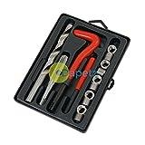 dapetz® 15Stück Helicoil Gewinde Reparatur Tool Kit M12x 1,75x 16,3mm Garage Tool Kit