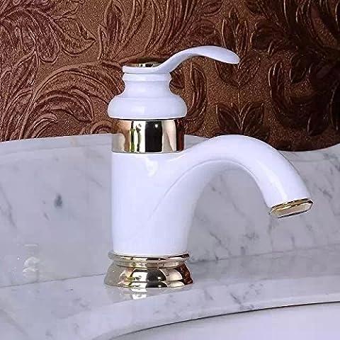 JinRou moderno bagno lavabo rubinetto pittura bianca finitura vasca da