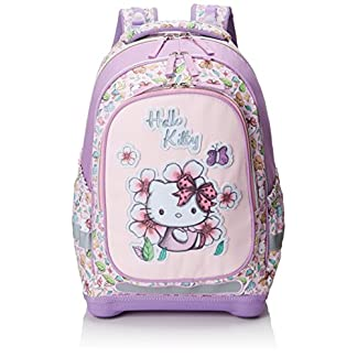 51veciJwkmL. SS324  - Target Hello Kitty Pencil Case Mochila Escolar, 45 cm, Morado (Purple/White)