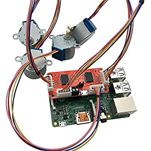4tronix pistep2 quad stepper motor control board with 4 for Raspberry pi stepper motor control