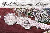 Yabue Diamanthochzeit 60 Jahre Foto-Karte Grußkarte Edelsteine 16x11cm