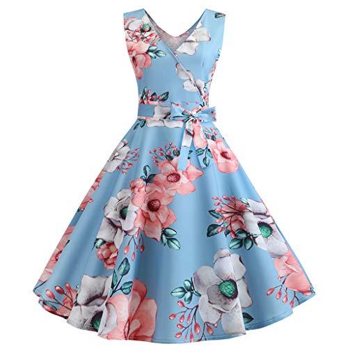 1950er Jahren Fancy Dress - Saihui_Women Dress Damen V-Ausschnitt 1950er Jahre