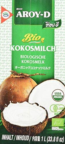 Aroy-D BIO Kokosnussmilch (aus Thailand, Fettgehalt ca. 17%, naturbelassen und ohne Zusatzstoffe) 2er Vorteilspack à 1 l (Kokos-sahne)
