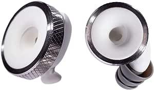 Knops Knurled White - Protezione per Le Orecchie con 4 Diverse regolazioni di Filtro