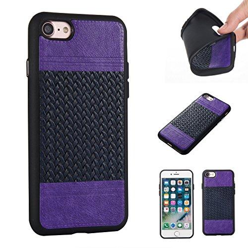 Ooboom® iPhone 5SE Hülle Hybrid PU Leder TPU Silikon Bumper Schutzhülle Handy Tasche Case Cover - Roségold Pink Hell Lila Navy Blau