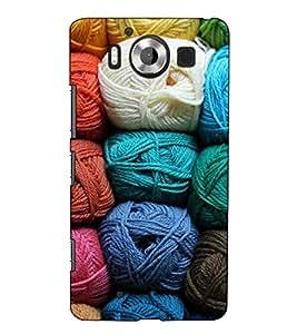 Fuson Designer Back Case Cover for Microsoft Lumia 950 :: Nokia Lumia 950 (Woolen threads theme)