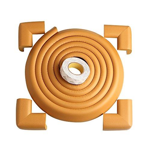 TRITINA Ecken- & Kantenschutz Extralanger 2,2 Meter [ 2,0 m kantenschutz + 4 eckenschutz ] einschließen 3M doppelseitiges Klebeband, Baby Sicherheit - Beige