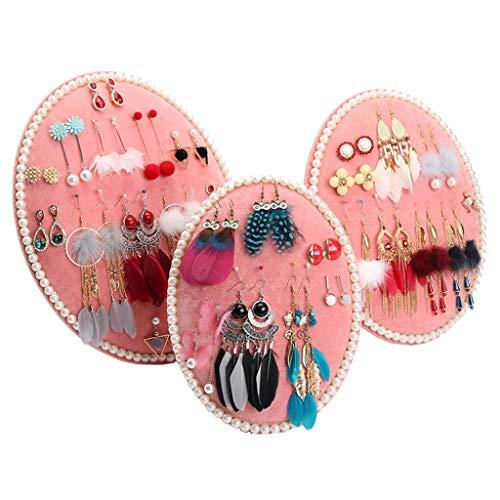 Yinghuawen Ohrring Halter-Ornament Anzeigetafel Ohrring Rack Lagerregal für Halskette Halskette, Ohrring Schmuck Halter, kann vertikal hängen (Farbe : Pink)