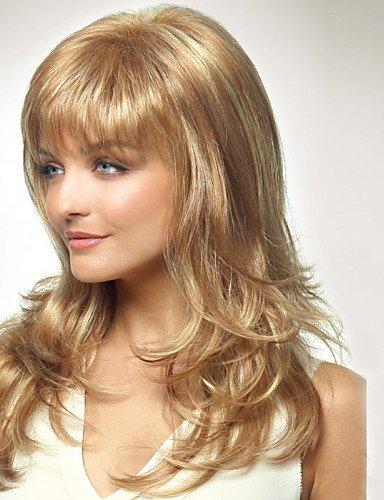 YLE capless Frauen lange Stil natürliche gesunde Haarwelle Mädchen lockigen blonden Perücken ()