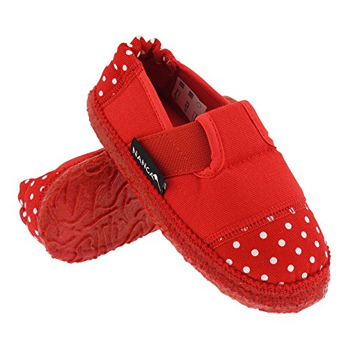 GALLUX - Damen Mädchen Hausschuhe Bio Baumwolle Pantoffeln Rot