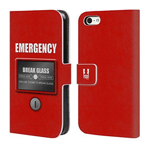 Head Case Designs Marienkäfer Muster Verschiedene Designs Brieftasche Handyhülle aus Leder für Apple iPhone 5 / 5s / SE Notfall
