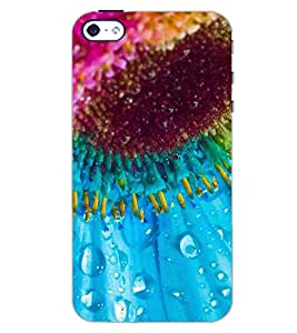 PrintDhaba FLOWER DROPS D-6342 Back Case Cover for APPLE IPHONE 4 (Multi-Coloured)