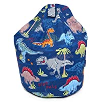 Better Dreams Childrens Bean Bag Blue Dinosaur Design 100% Cotton 50cm Wide x 62cm High