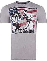 BENLEE T-Shirt BLOCK - Marl Grey Größe S