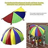Kinder spielen Rainbow Outdoor Spiel Übung Sport 8Griffe Schwungtuch