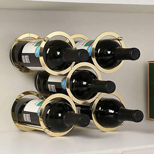 Himamk Cave à vin modulable, Étagère à Bouteille, Casier à Bouteille, Range Bouteille, Porte Bouteille 5 Bouteilles de vin 9.64inch,Gold