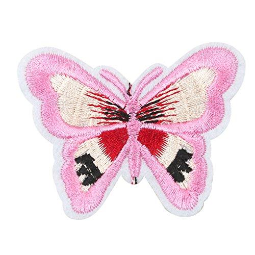 CanVivi Bügelbild Aufbügler Schmetterling Bekleidung Patches Applikation zum aufbügeln,3#