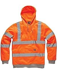 Fast Fashion Herren Dickies Hi Viz Hoodie Kapuzenpulli Hohe Sichtbarkeit Arbeitskleidung Jacke