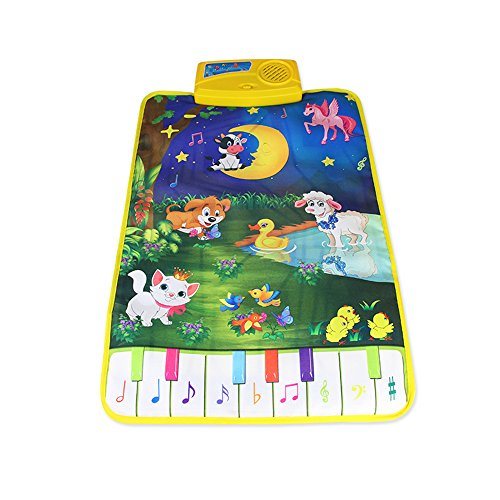 Goolsky Musik Play Mat Lernen Singen Teppich Keyboard Klavier Blanket Touch Spielen Sound Baby Early Education Kinder Geschenk