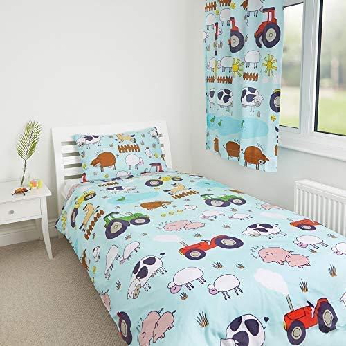 Zappi Co Farm Design von die Geschenk Scholars. Wende Kleinkind Bettdecke, Einzelbett Bettdecke, 54