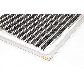 EMCO Eingangsmatte DIPLOMAT ca. 10 mm anthrazit mit Ripseinlage mit Einbaurahmen, Größe:600 x 400 mm