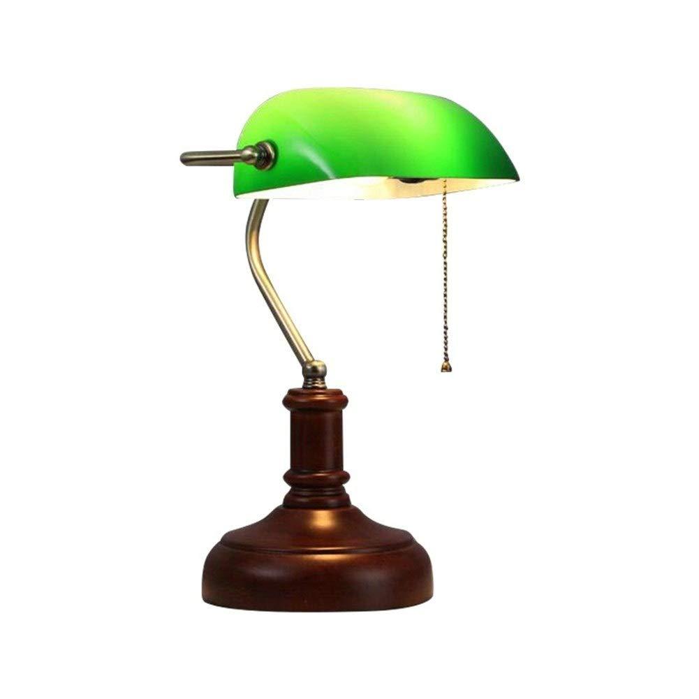 WPCBAA Studio Decorazione della Lampada in Vetro Lampada Paralume scrivania  Salotto Camera da Letto Lampada da Comodino Europea Ferro Lampada da ...