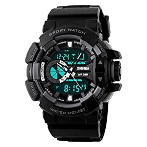 Skmei Analog-Digital Black Dial Men's Watch – 1117-Grey-02