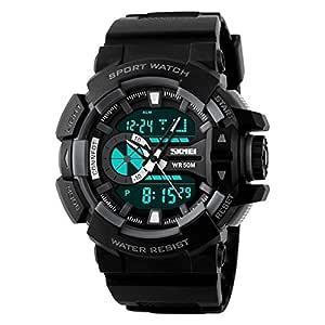Skmei Analog-Digital Black Dial Men's Watch - 1117-Grey-02