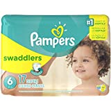 6 , 17 : Pampers Swaddlers Diapers Size 6, 17 Count