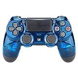 Controller Monkeys - PS4 Oberschale für JDM-040/-041/-030/-050/-055 Controller - Transparent Crystal (Blau)