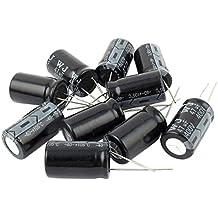 Condensador electrolitico - SODIAL(R) 10 piezas de 400V 47uF 105C condensador electrolitico de