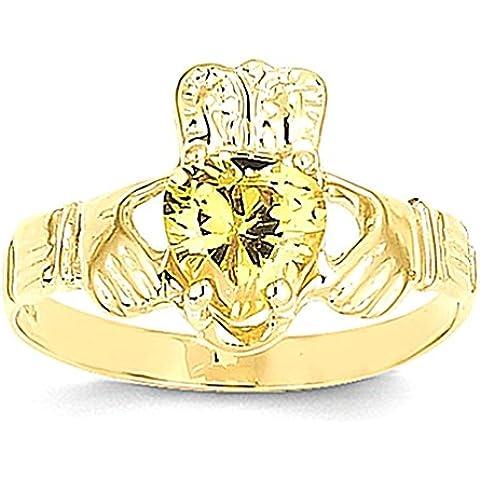 14k novembre Birthstone Claddagh Ring