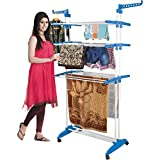 #4: Parasnath 2 Poll Three Layer Cloth Drying Stand Floor Cloth Dryer Stand (Lifetime Warranty*MADE IN INDIA)