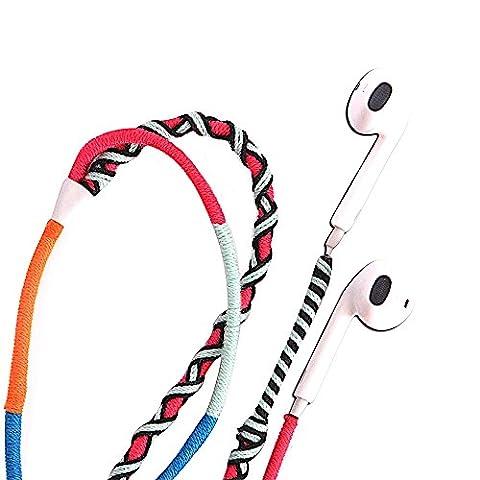 UliX Calypso Écouteurs intra auriculaires avec câble anti nœuds multicolore