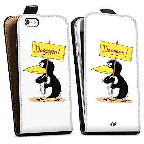 Apple iPhone X Silikon Hülle Case Schutzhülle Uli Stein Fanartikel Merchandise Dagegen Downflip Tasche schwarz