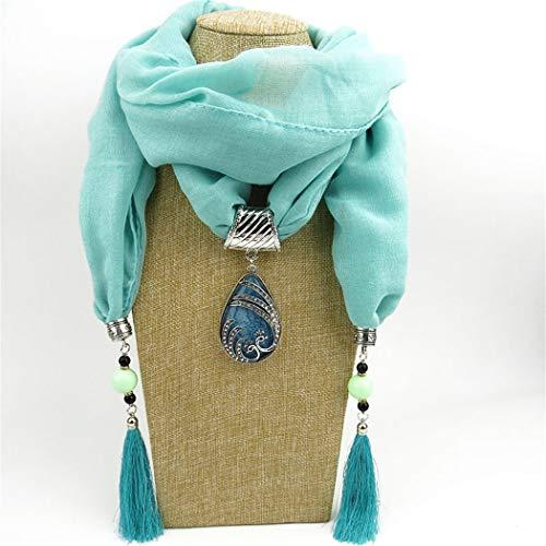 WDYBXYL Frauen Mode Quaste Schal Schmuck Anhänger Halskette Schals G