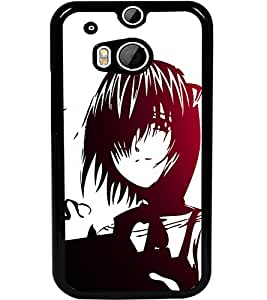 ColourCraft Lovely Drawing Design Back Case Cover for HTC ONE M8
