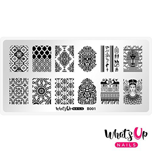 Whats Up Nails - B001 Middle Eastern Vibes Stamping Plate for Nail Art Design