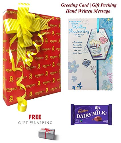 Almoda Creations A Special Wish on Your Anniversary for Both of You-Greeting Card for Marriage with Hand Written Message and Gift Pack