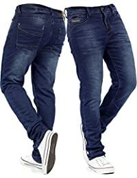 Urban Surface Herren Jogging Jeans Jogg Sporthose Sweatpants Sweathose Freizeit