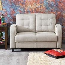 Home Centre Montoya Serene Fabric Sofa-2 Seater Beige
