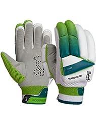 Kookaburra Kahuna 200 Mens Kids Cricket Batting Gloves White/Green
