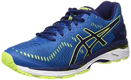 Asics, Gel-Kayano 23, Scarpe Running Uomo, Blu (Thunder Blue/Safety Yellow/Indigo Blue), 40 EU